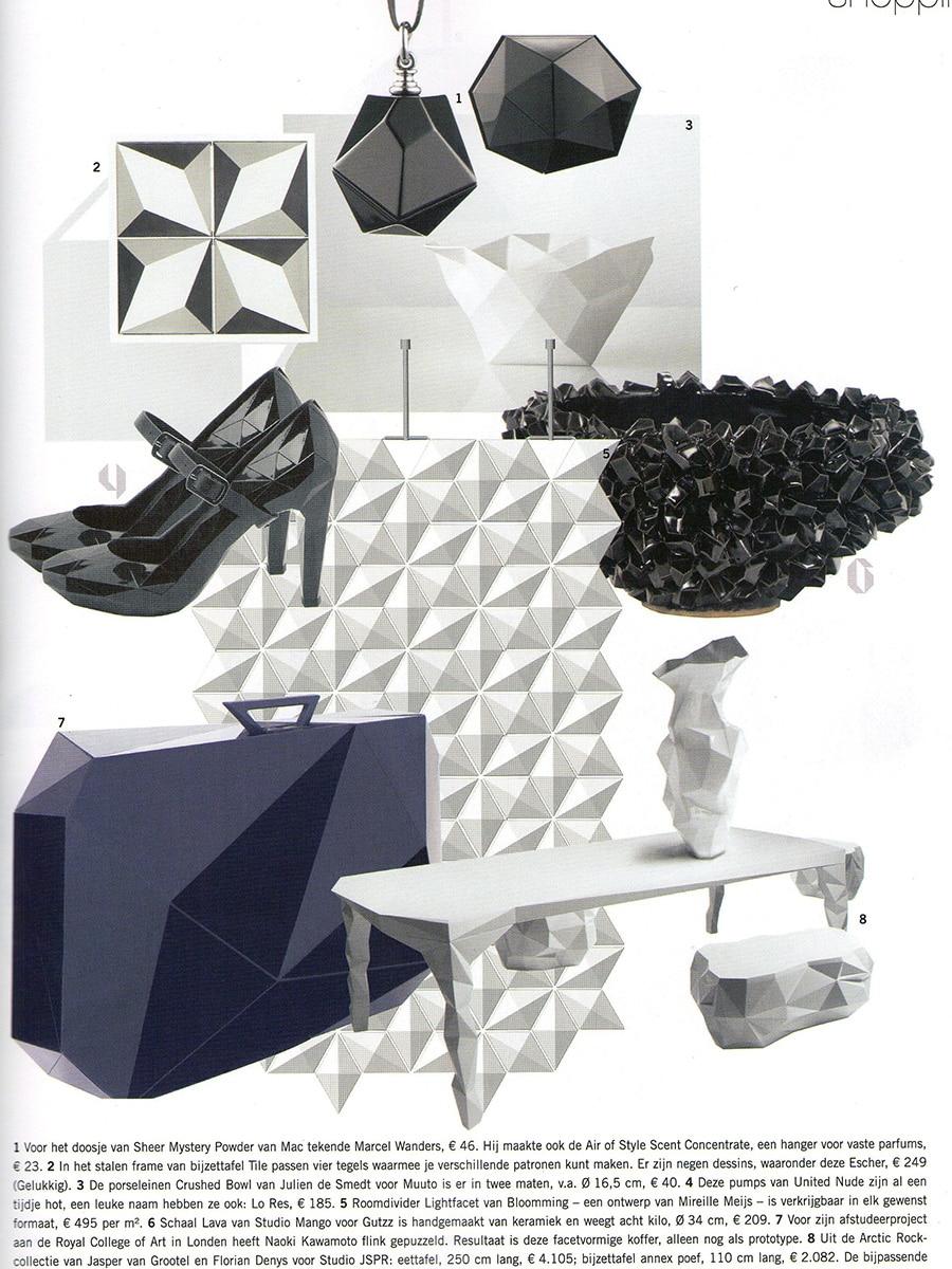 Room divider Facet gets a nice place in Dutch design magazine Eigen Huis & Interieur.