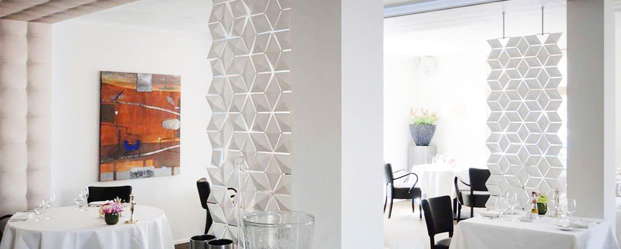 Decorative Room Divider Screens Hanging Room Divider Facet White 68x210cm 2 1244x500px