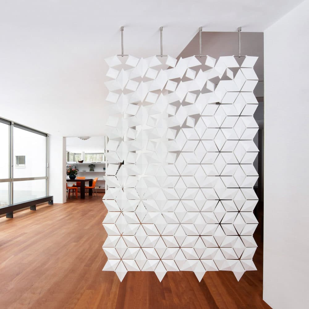 Hanging Room Divider Screen Room Divider Facet White 136cmx210cm Featured Image 1500x1500px