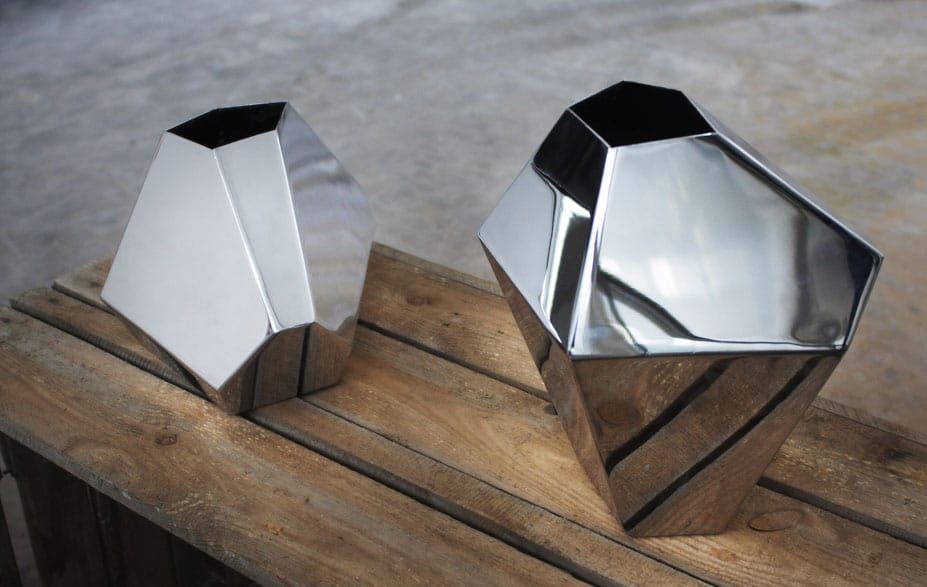 Industrial Vases set reflecting light