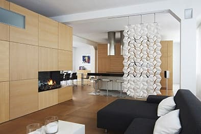 Stunning Living Room and Dining Room Divider