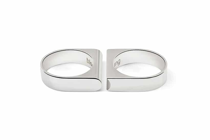White Gold Wedding Rings For Him And Her forming a perfect match