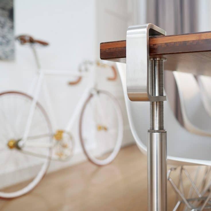 Table legs Grip, stainless steel poetry