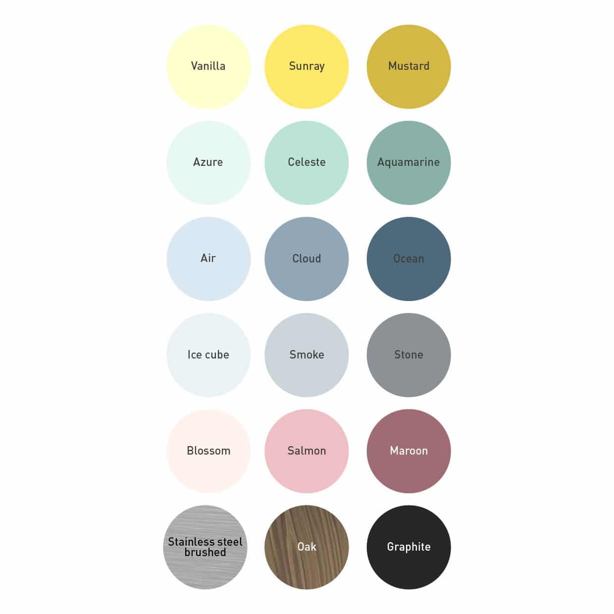 Bloomming Color Chart