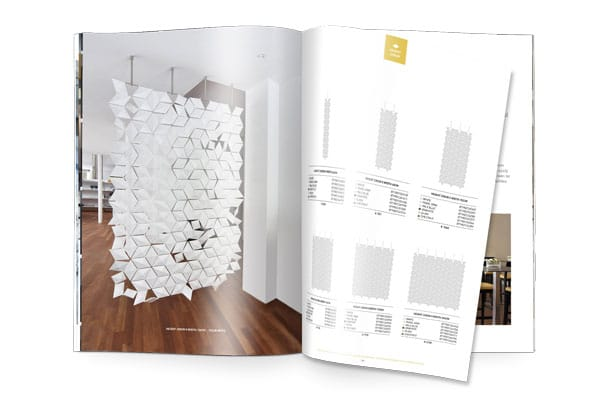 Hanging Room Divider Facet Brochure