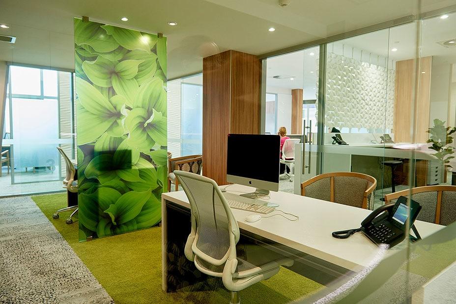 Office Front Desk Design for a Trendy Design Office