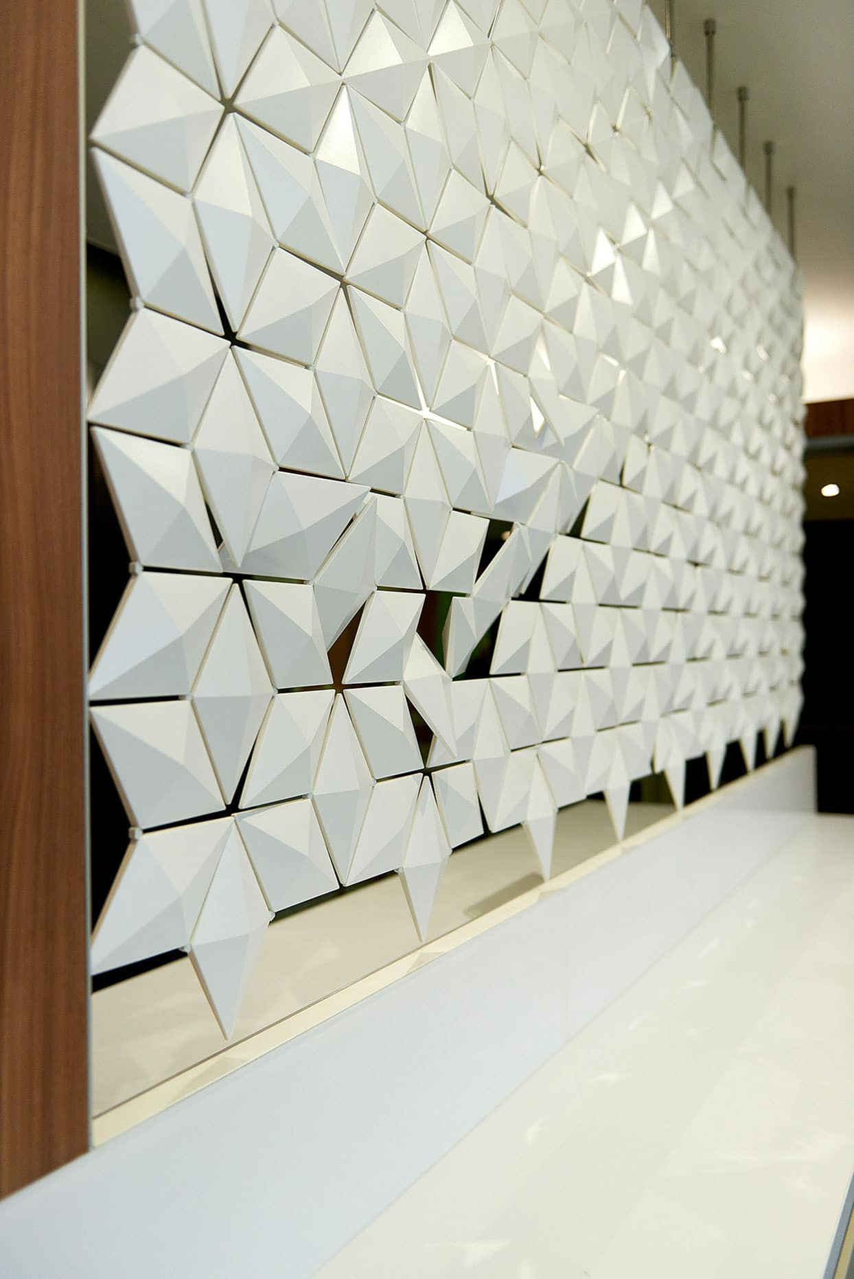 Office Front Desk Design With Open Partion