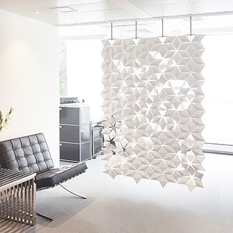 Privacy screen divider for classy modern spaces