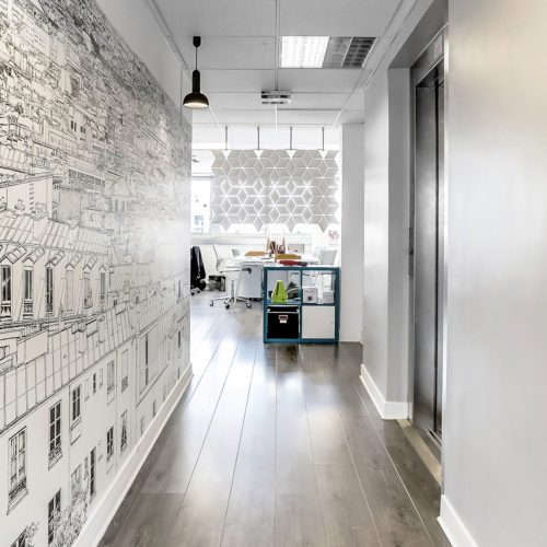 Separate office space with this stunning divider screen