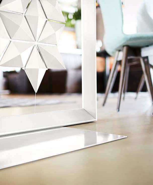Freestanding Room Divider Facet Is Lightweigth And Easy To Move In White