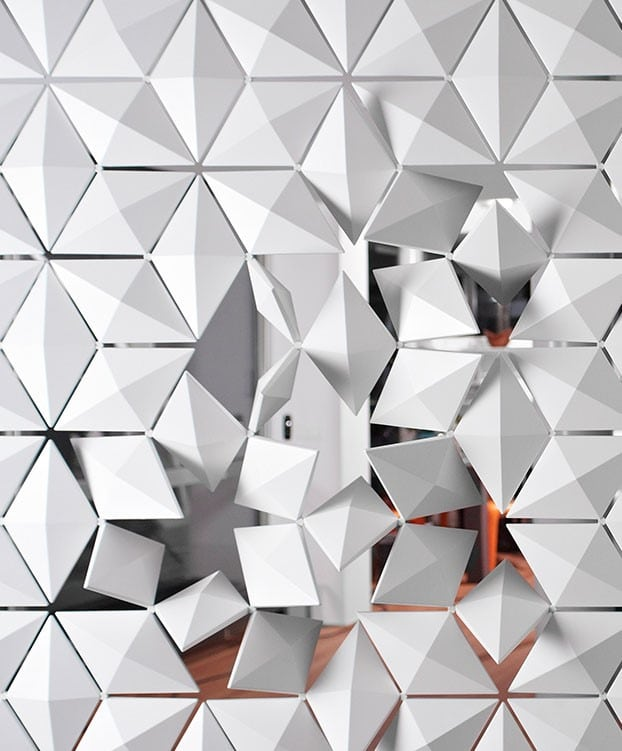 Room divider Facet close-up rotating elements