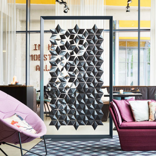 Geometric room divider that will hypnotize you