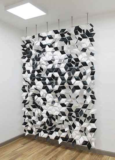 Black And White Room Divider Offers A Diverse And Creative Pattern Design
