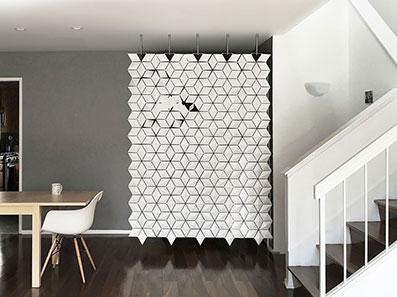 Entrance Privacy Screen Carried Out in White - Order Now In Our Room Divider Shop