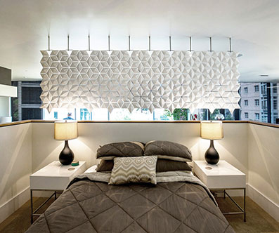 Wide Bedroom Separation Screen To Divide Your Bedroom Space Elegantly