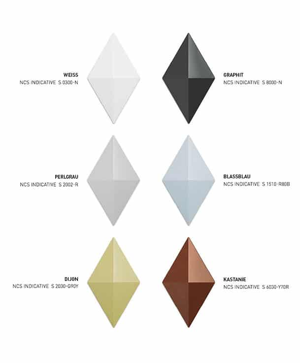 Freistehender Raumteiler Facet - Farbauswahl